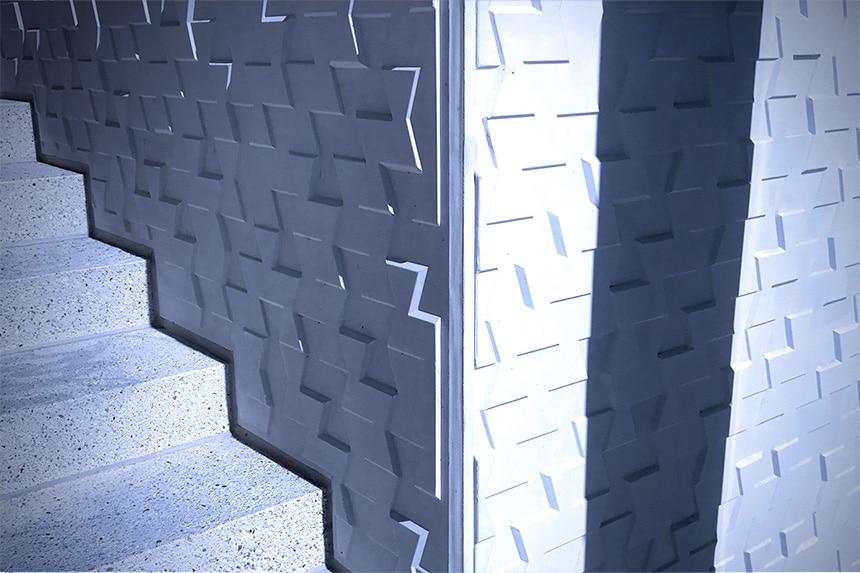 Patroon naast trap
